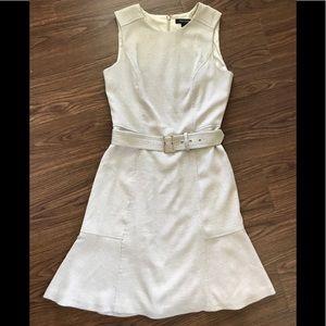 """White House Black Market """"Linen"""" Belted Dress"""